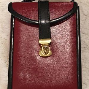 Vintage hard case travel jewelry bag